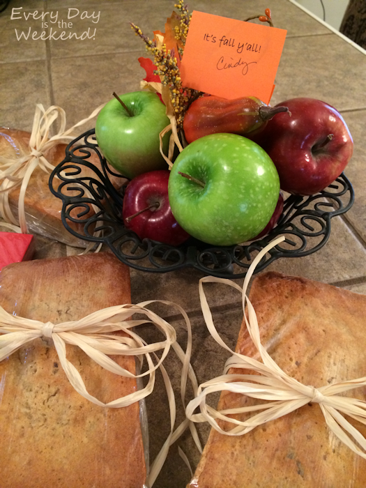 Apple Pound Cake for the Teachers
