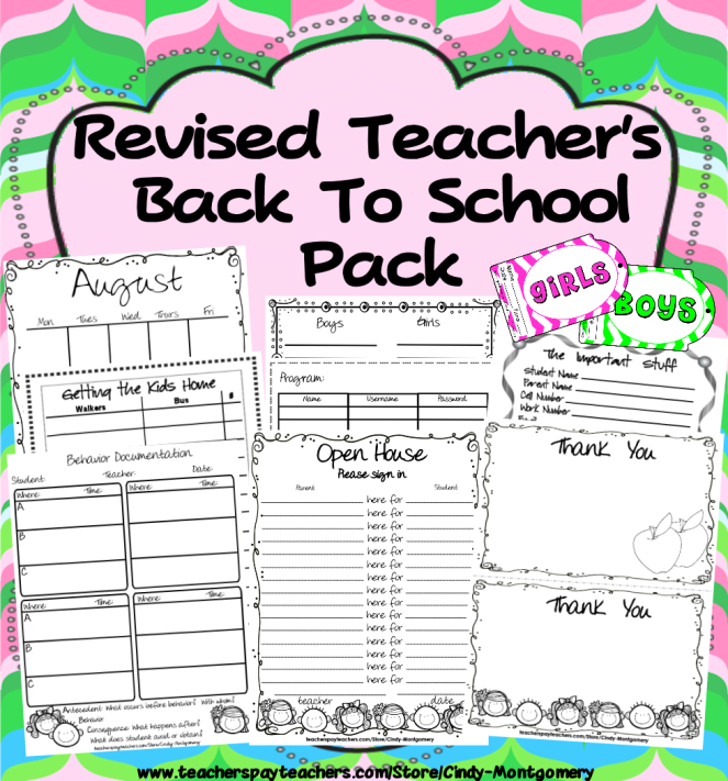 32 forms to get your year started off right! l Teacher's Back to School Pack - Revised